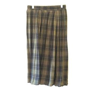 Old Navy Plaid Midi Skirt